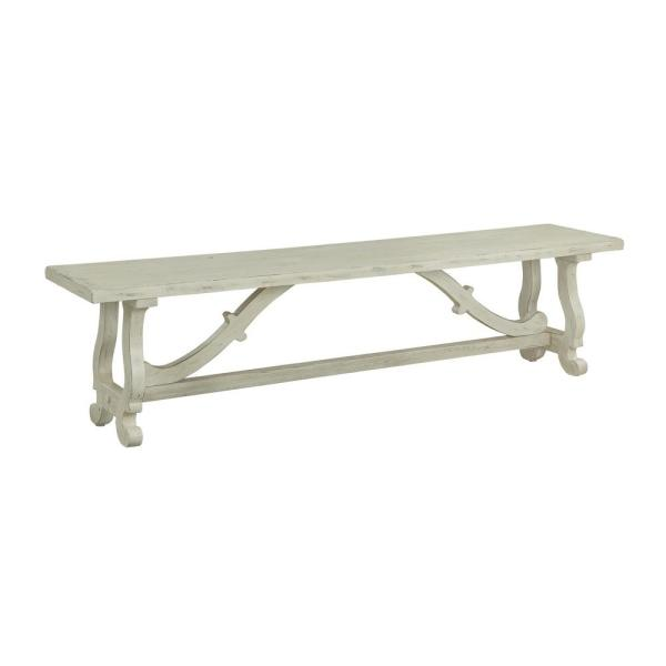 Orchard Park White Rub Dining Bench