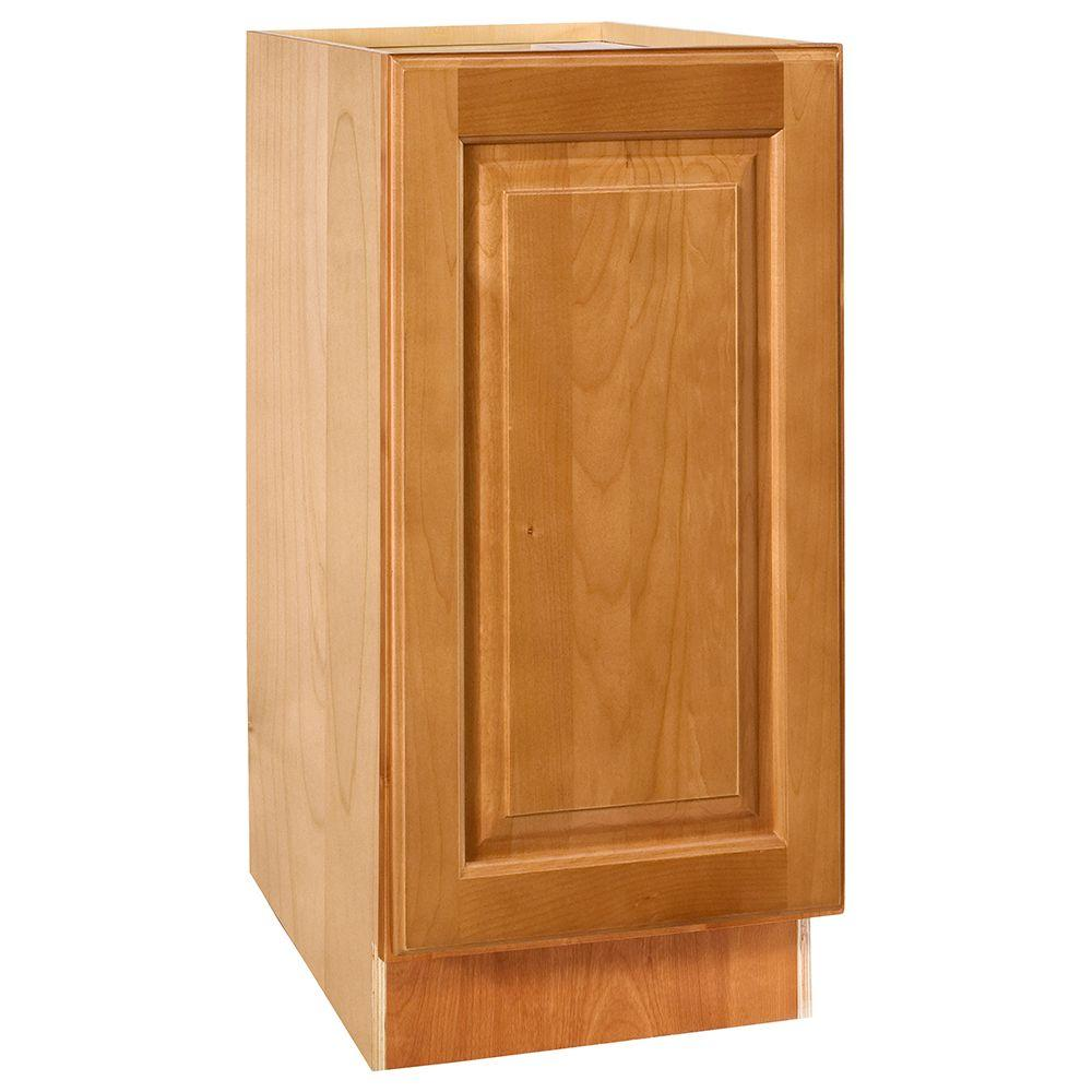 Home Decorators Collection Assembled 12x34.5x21 in. Vanity Base Cabinet with Full Height Door in Woodford Cinnamon
