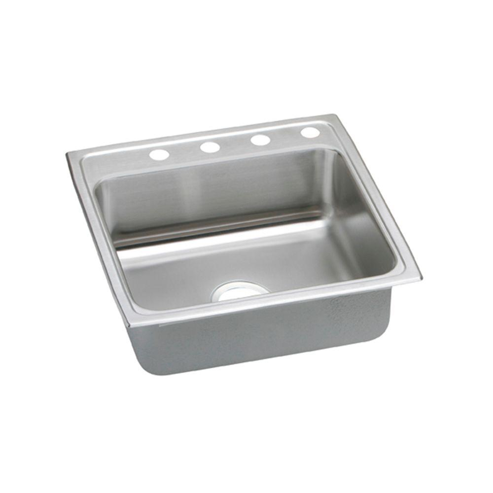 Elkay Pacemaker Drop-In Stainless Steel 22 in. 4-Hole Single Bowl Kitchen Sink