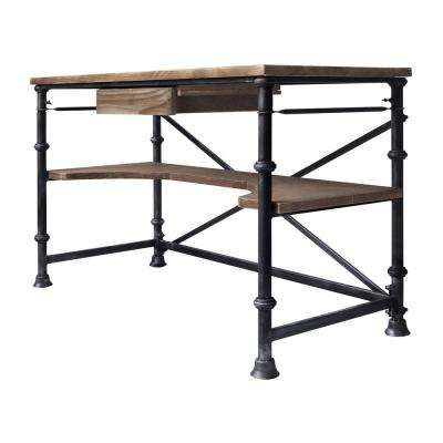 Theo Industrial Grey Desk
