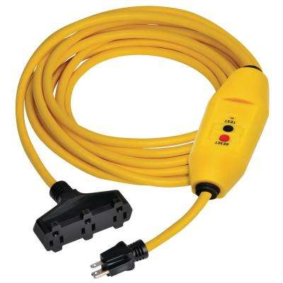 100 ft. In-Line GFCI Triple Tap Cord