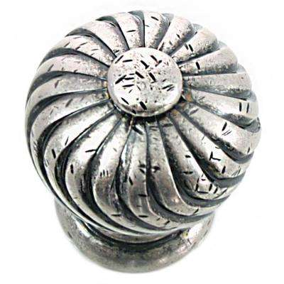 1.25 in. Distressed Pewter French Twist Knob