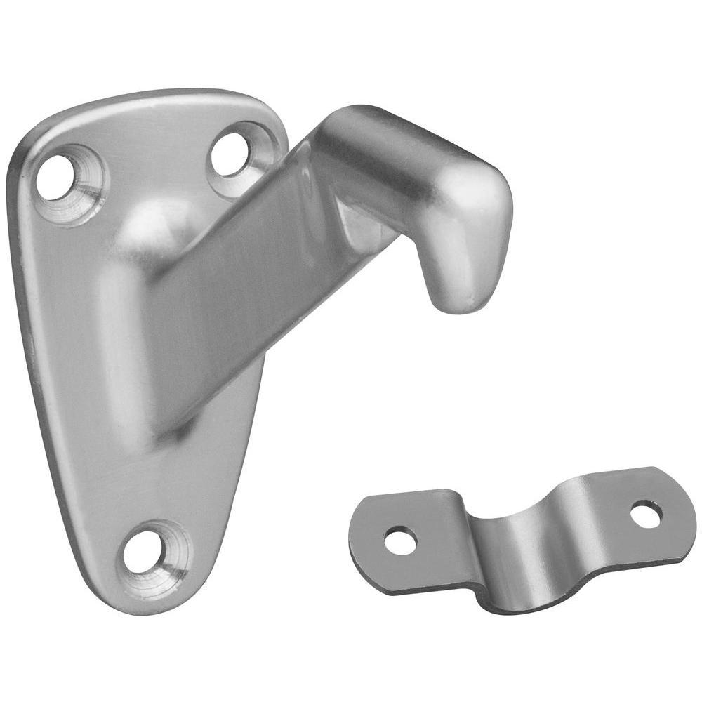 Stanley-National Hardware 3 in. Satin Nickel Heavy Duty Handrail Bracket-DISCONTINUED