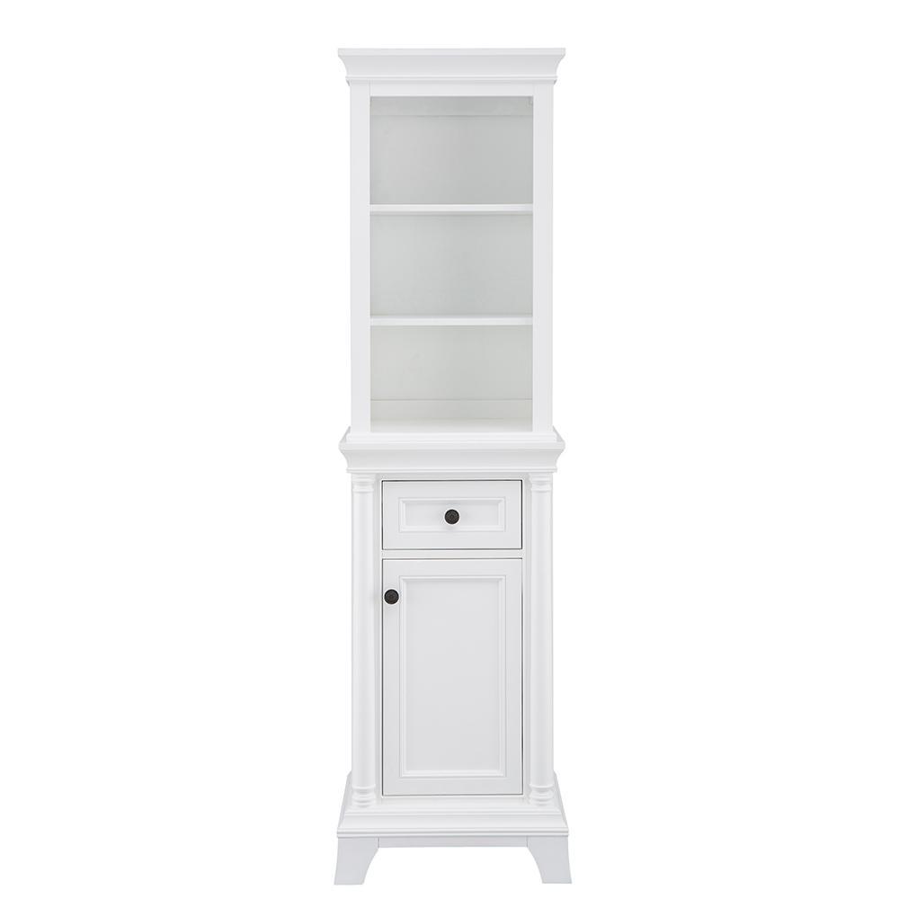 Strousse 21 in. W x 72 in. D Linen Cabinet in White