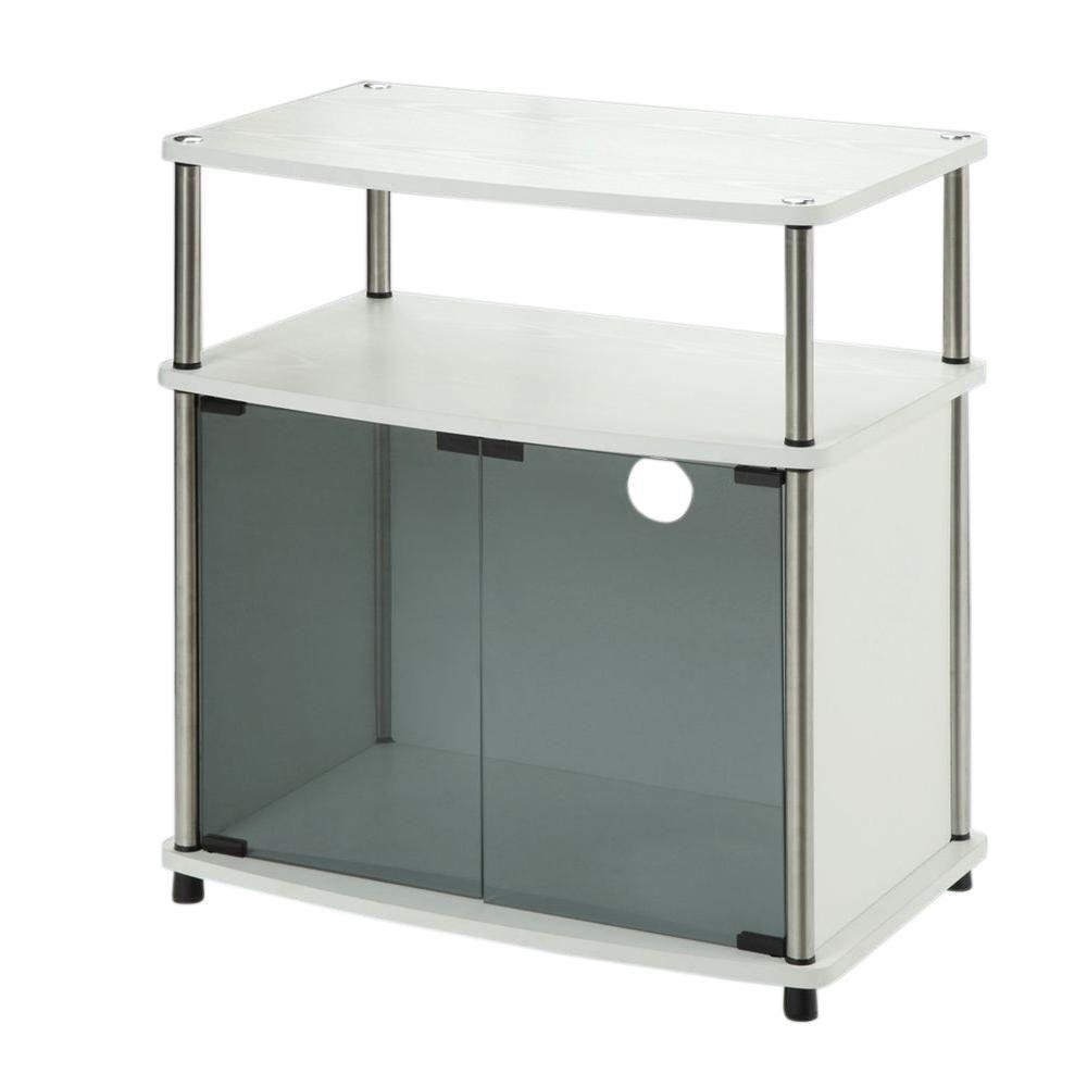 Convenience Concepts Designs2Go White Storage Entertainment Center ...
