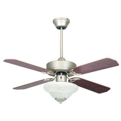 Heritage Square 42 in. Indoor Satin Nickel Ceiling Fan