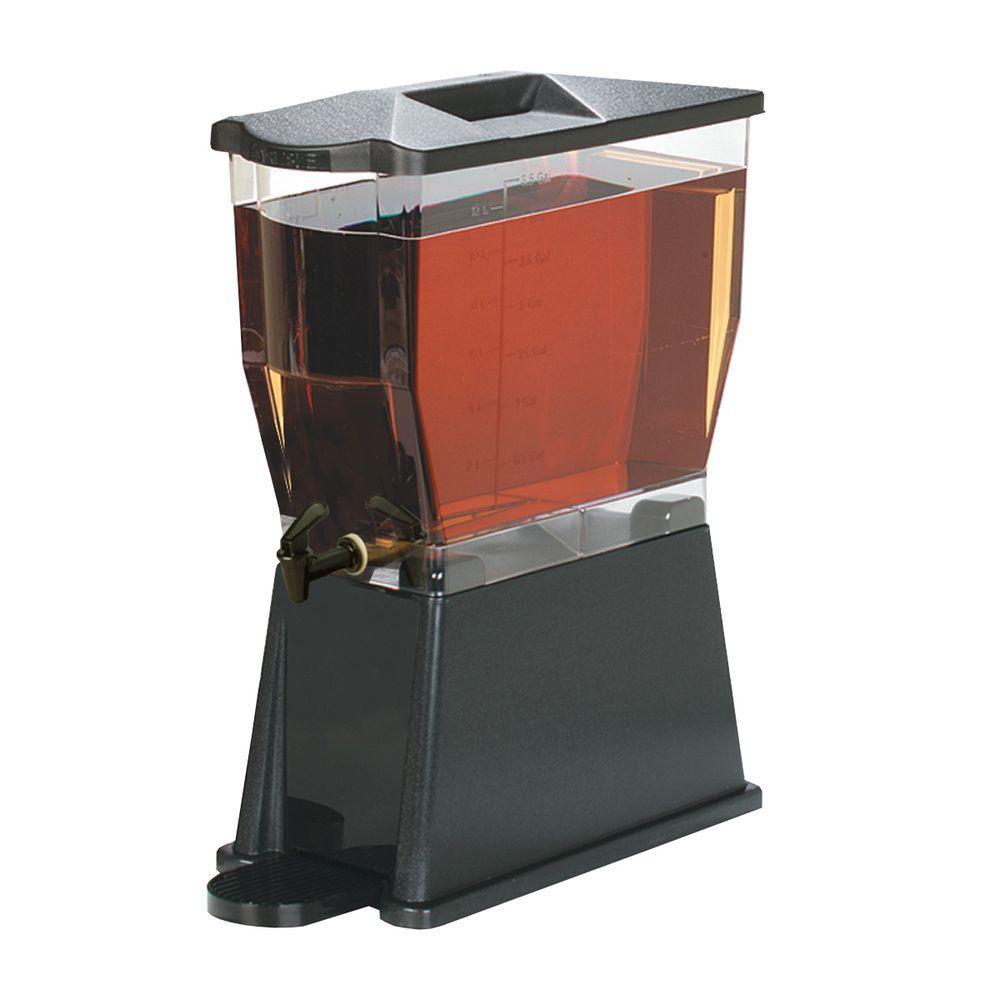 3 gal. Single Reservoir Economy Trim Polycarbonate Beverage Dispenser in Black