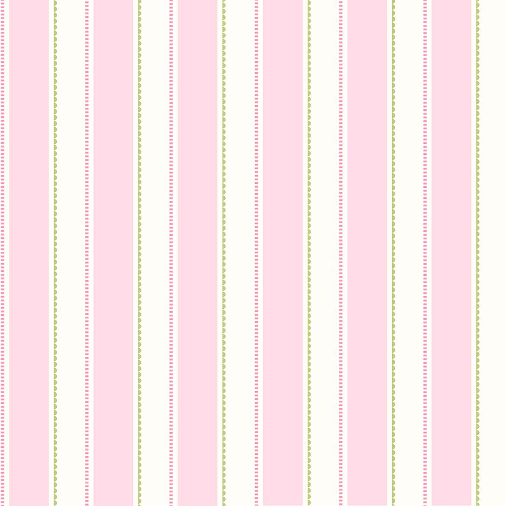 Gatsby Pink City Scape Stripe Wallpaper Sample