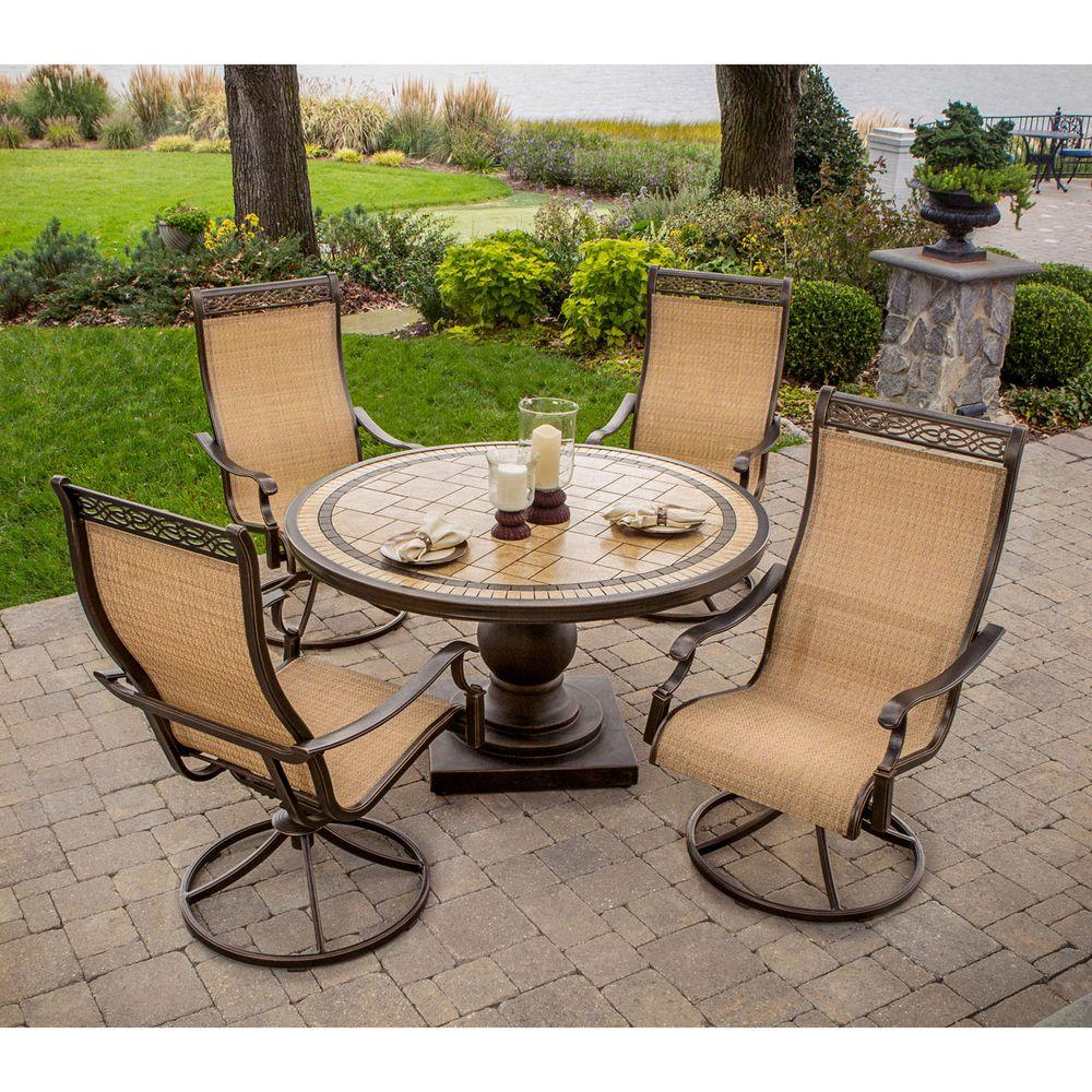 Hanover Monaco 5Piece Patio Outdoor Dining SetMONACO5PCSW The