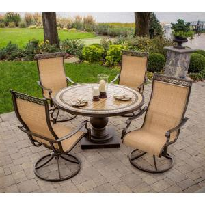 Click here to buy Hanover Monaco 5-Piece Patio Outdoor Dining Set by Hanover.