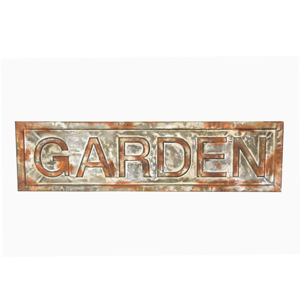 Gray Metal Garden Wall