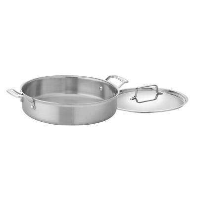 MultiClad Pro 5.5 qt. Stainless Steel Saute Pan with Lid with Dual Handles
