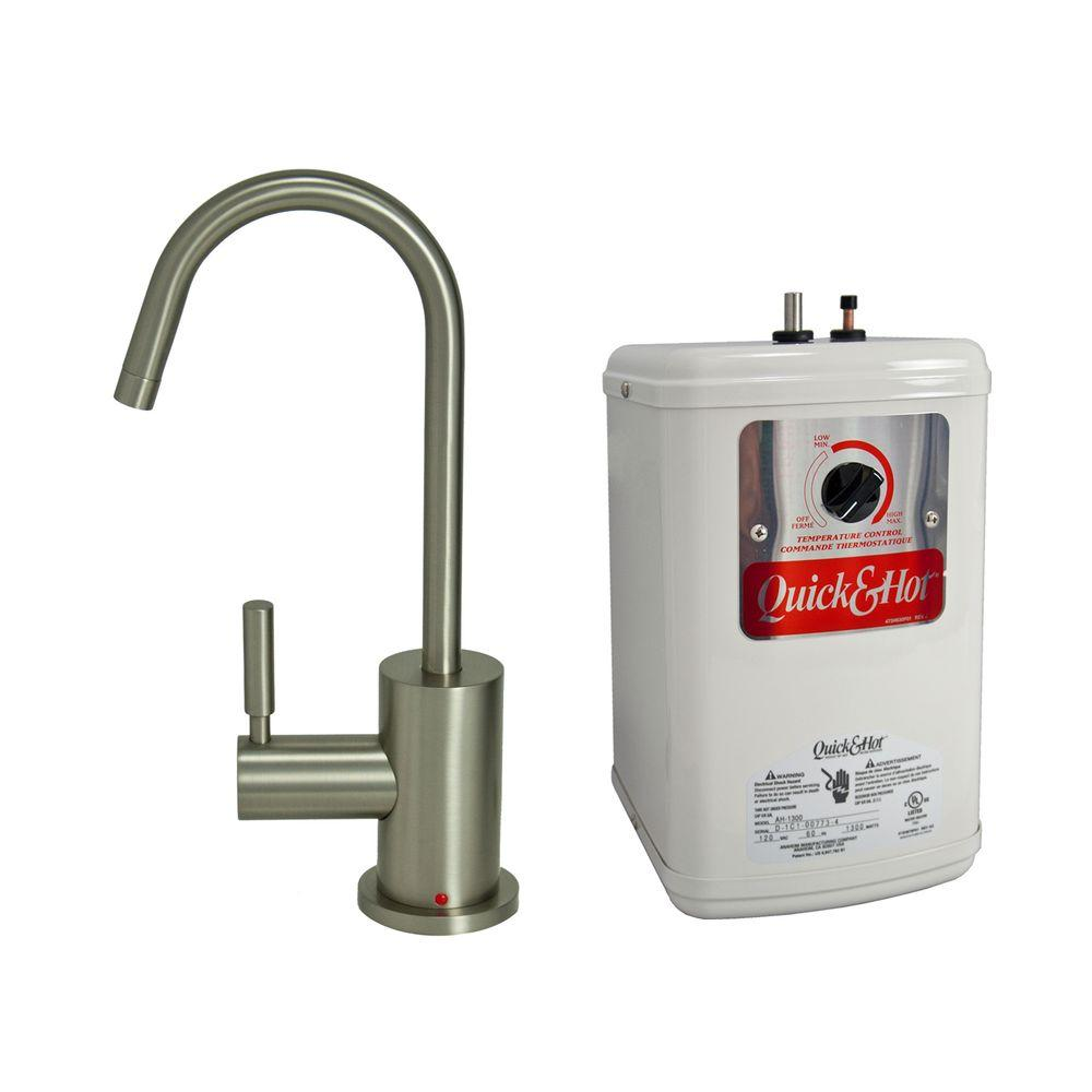 Single Handle Hot Water Dispenser Faucet With Heating Tank In Brushed Nickel