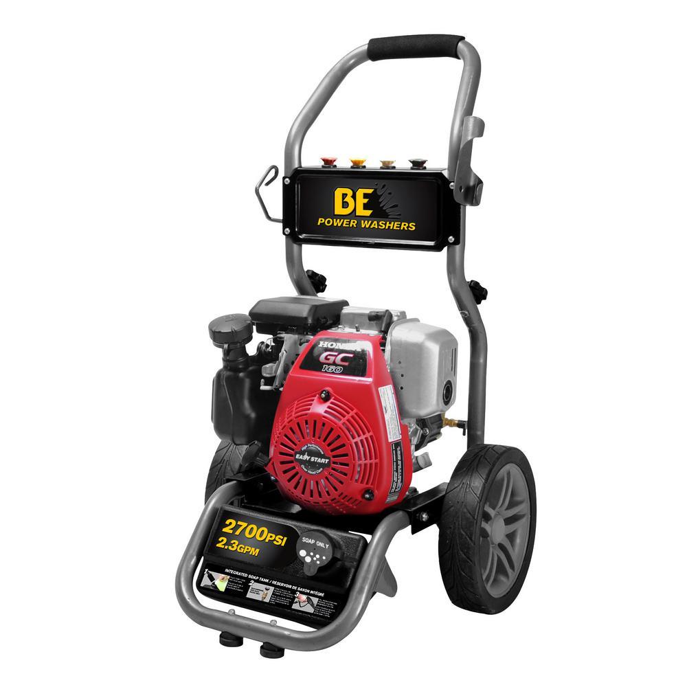 2700 PSI 2.3 GPM Honda Gas Powered Pressure Washer