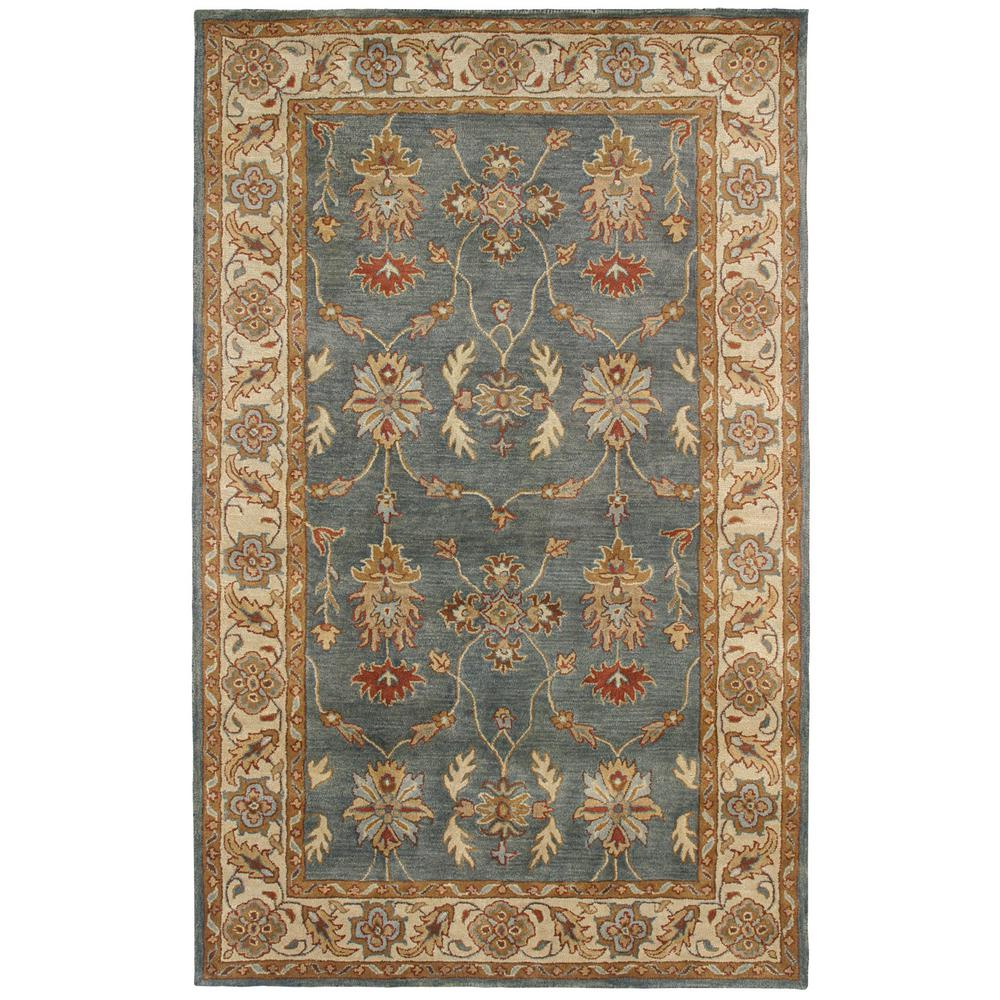 Charisma Blue/Ivory 8 ft. x 11 ft. Indoor Area Rug