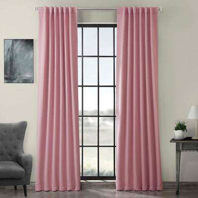 Semi-Opaque Precious Pink Blackout Curtain - 50 in. W x 96 in. L (Panel)