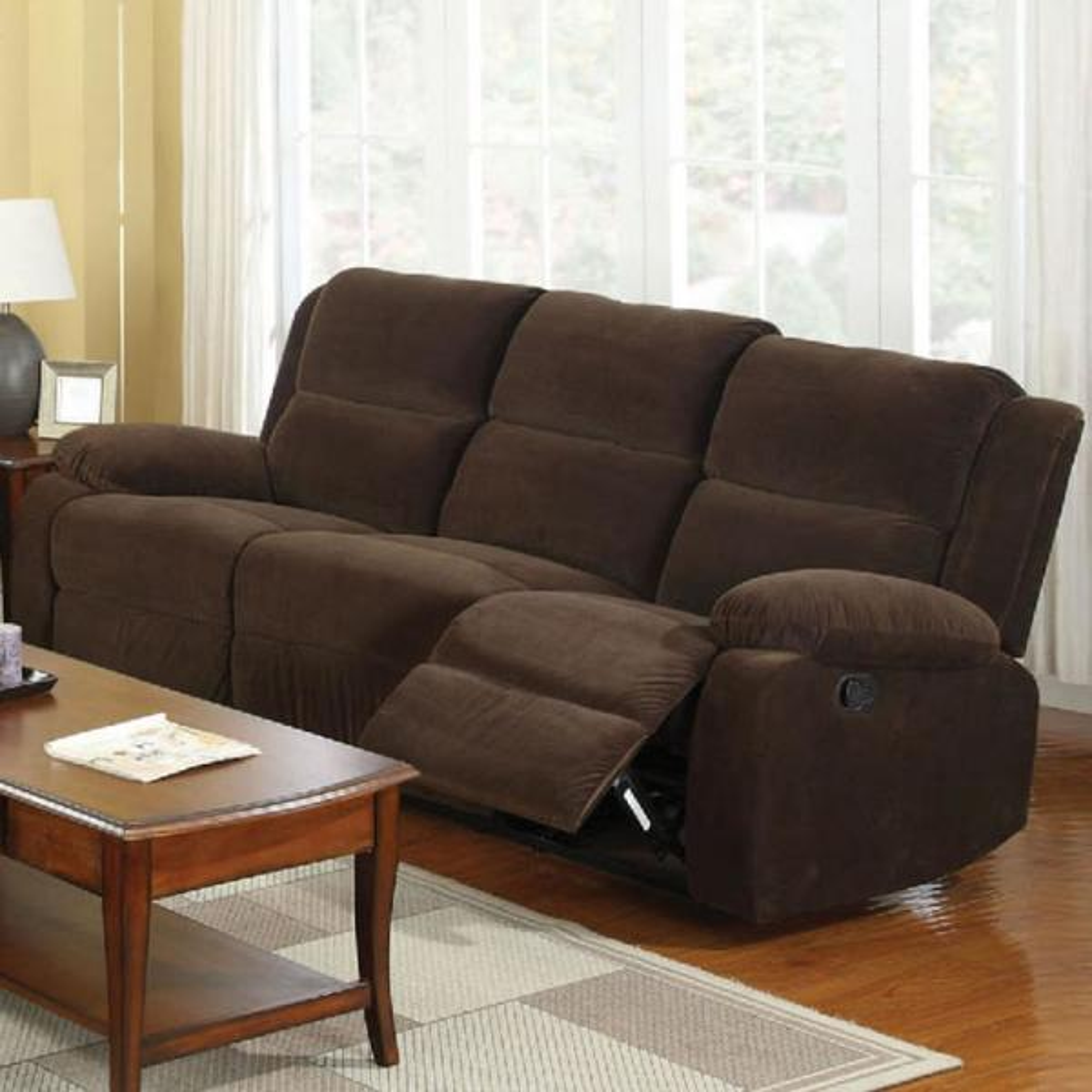 Haven Dark Brown Flannelette Sofa