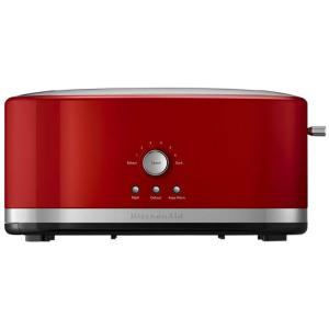 KitchenAid 2-Slice Empire Red and Silver Wide Slot Toaster with