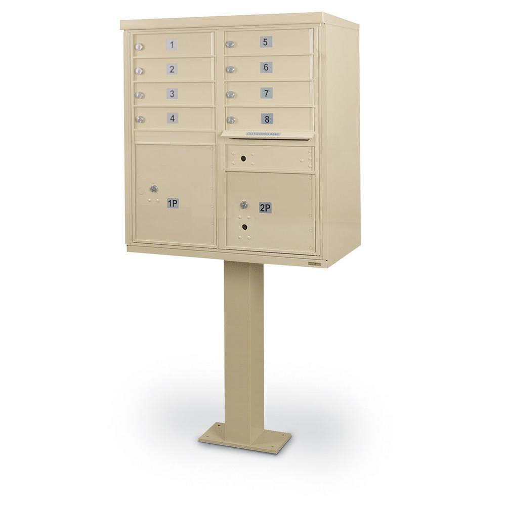 8-Compartment F-Spec Cluster Box Unit with Pedestal
