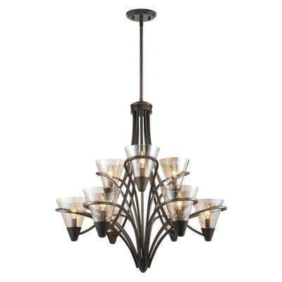Emmalyn Collection 9-Light Burnt Sienna Chandelier