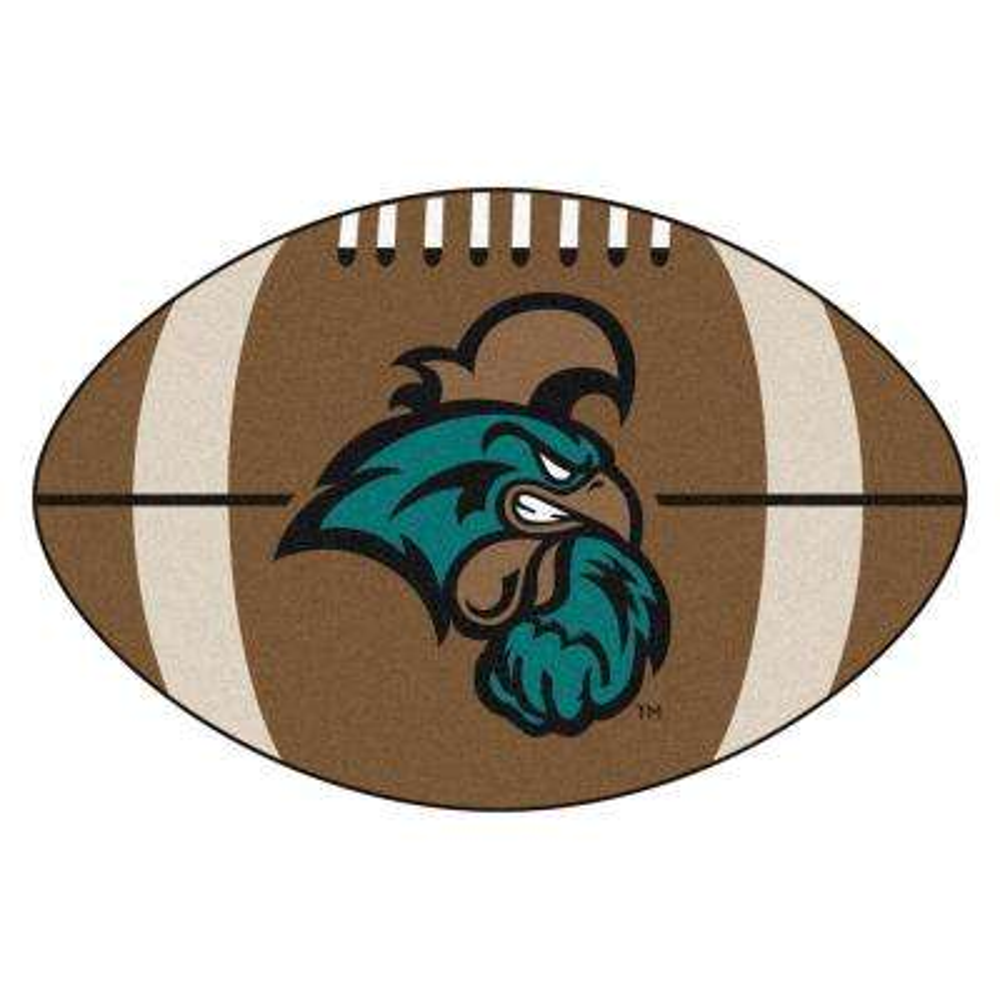 NCAA Coastal Carolina 20.5 in. 32.5 in. Football Mat Area Rug