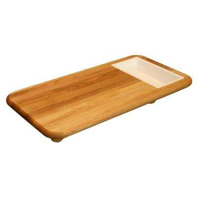 Hardwood Cutting Board with Cut 'n' Catch Removable Tray