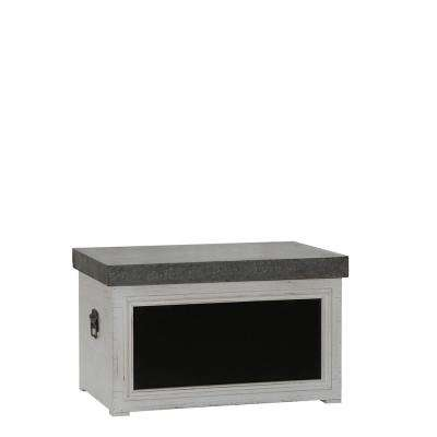 14 in. x 23 in. White Chalk Board Trunk