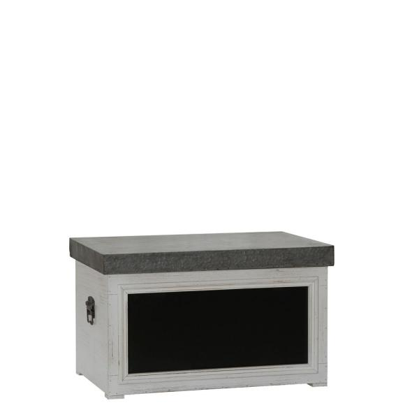 Household Essentials 14 in. x 23 in. White Chalk Board Trunk