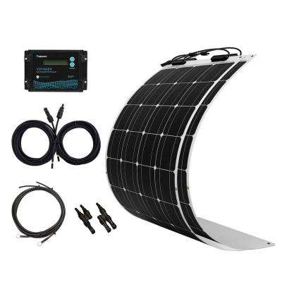 200-Watt Flexible Monocrystalline Solar Panel Kit with 20 Amp Waterproof PWM Charge Controller