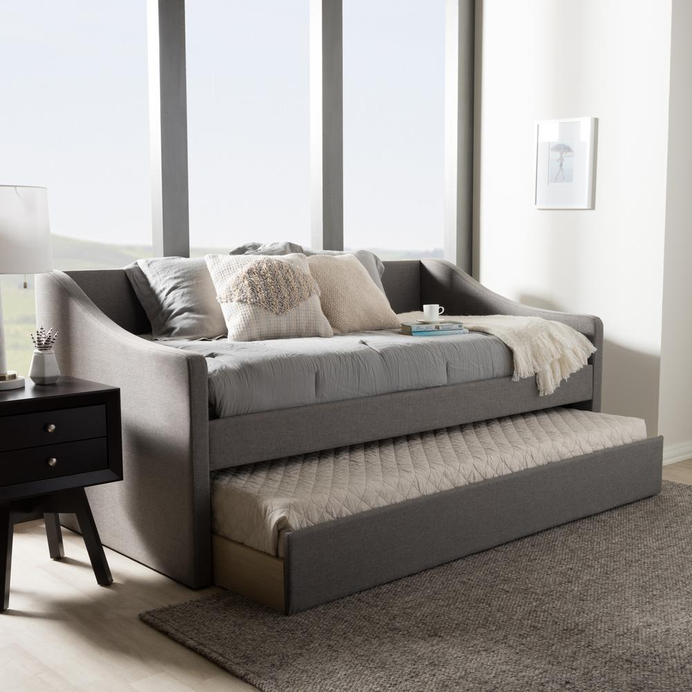 baxton studio barnstorm gray fabric upholstered twin size daybed