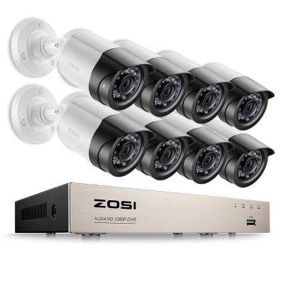 8-Channel 1080p DVR Surveillance System with 4-Wired Bullet Cameras