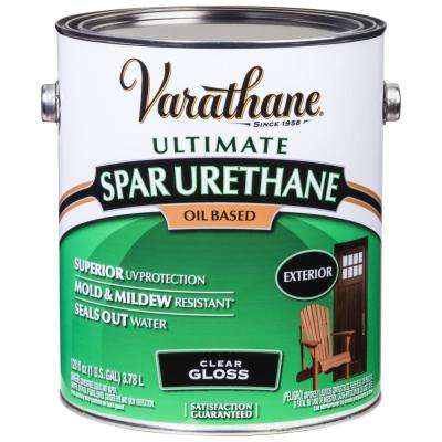 1 gal. Clear Gloss 350 VOC Oil-Based Exterior Spar Urethane (Case of 2)