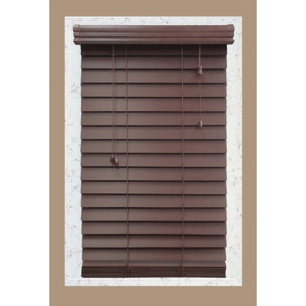 Home Decorators Collection Brexley 2-1/2 in. Premium Wood Blind - 23 in. W x 72 in. L (Actual Size 22.5 in. W x 72 in. L )