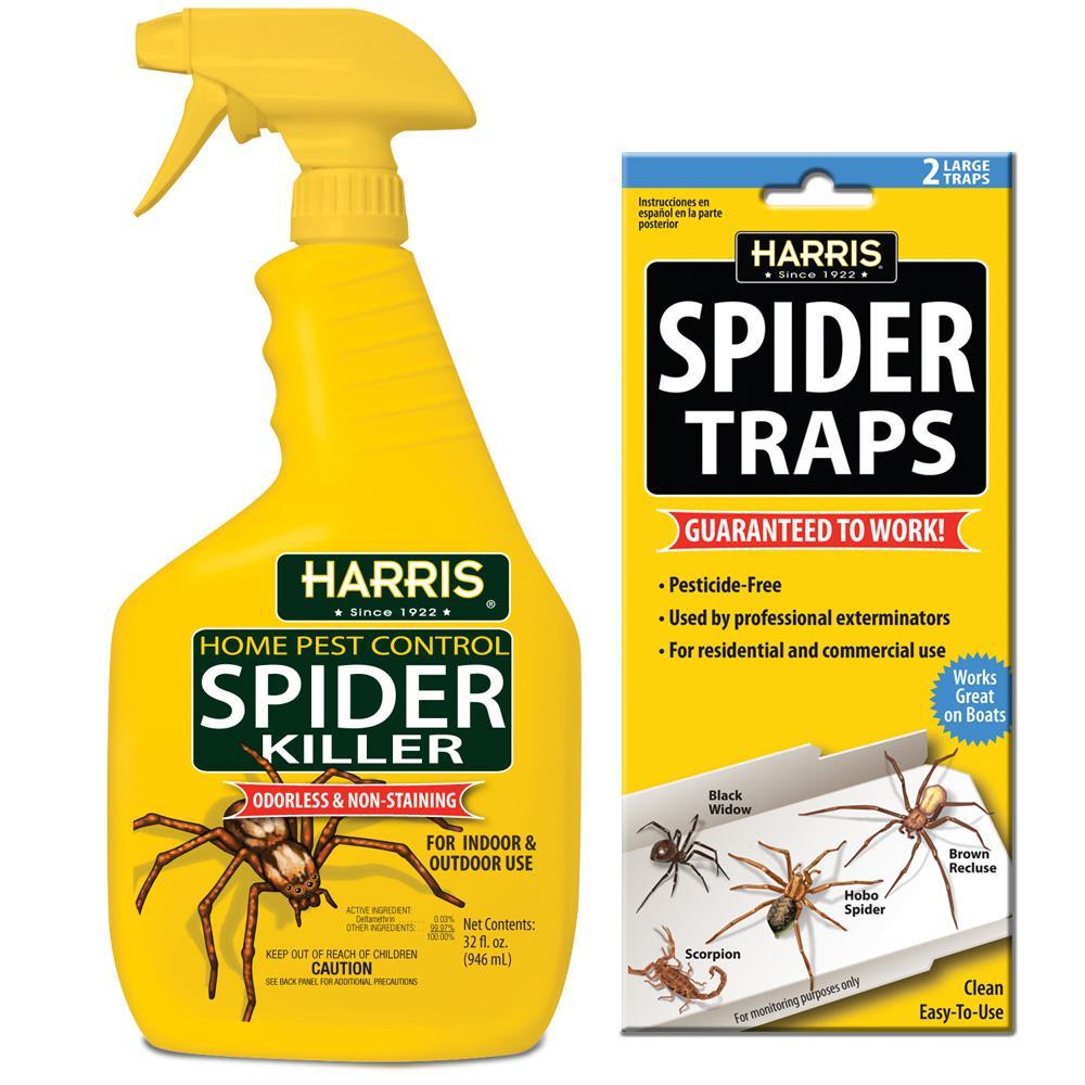 32 oz. Spider Killer and Spider Traps Value Pack