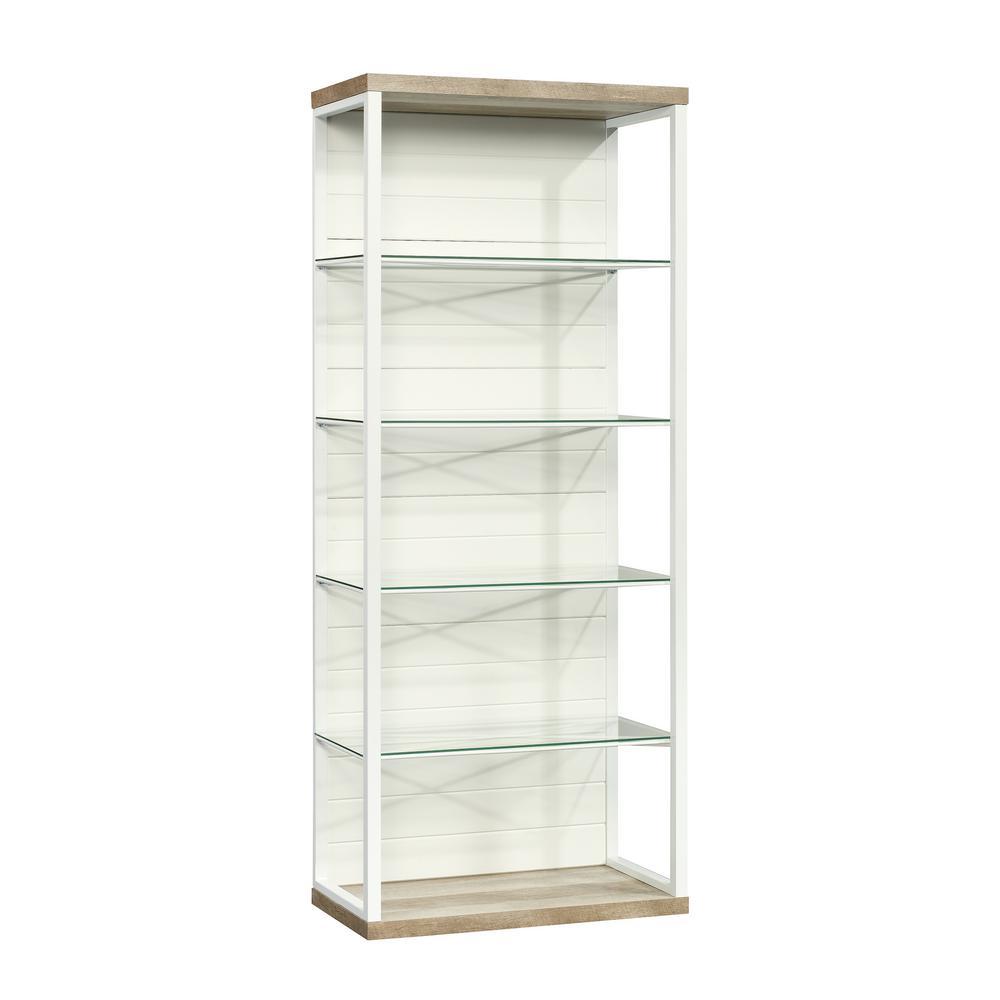Cottage Road White Glass Shelf Bookcase