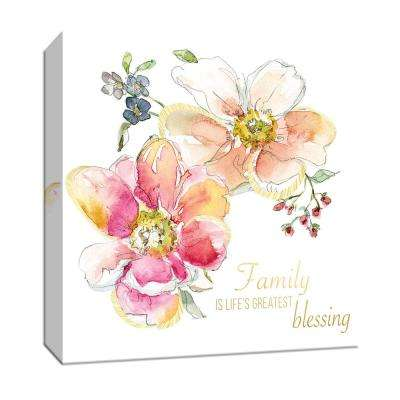 15 in. x 15 in. ''Family Blessing'' By PTM Images Canvas Wall Art