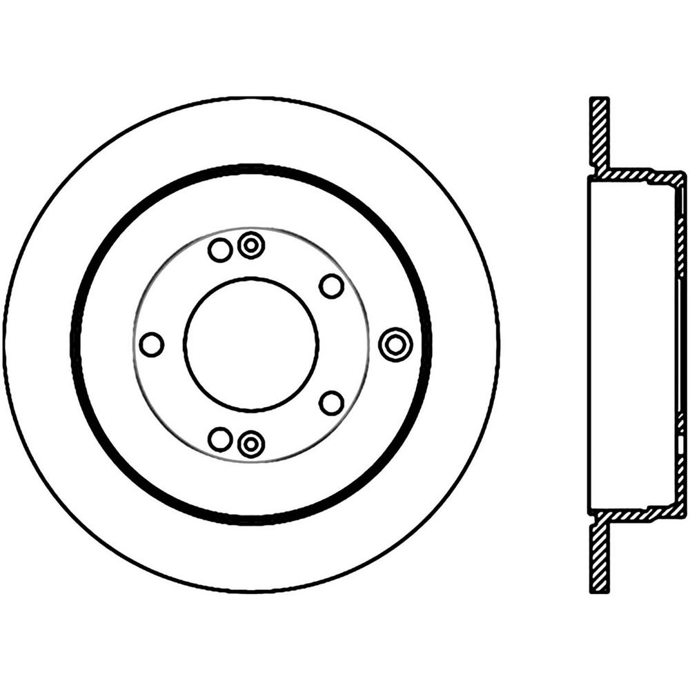 Centric Parts Disc Brake Rotor 121 51022 The Home Depot