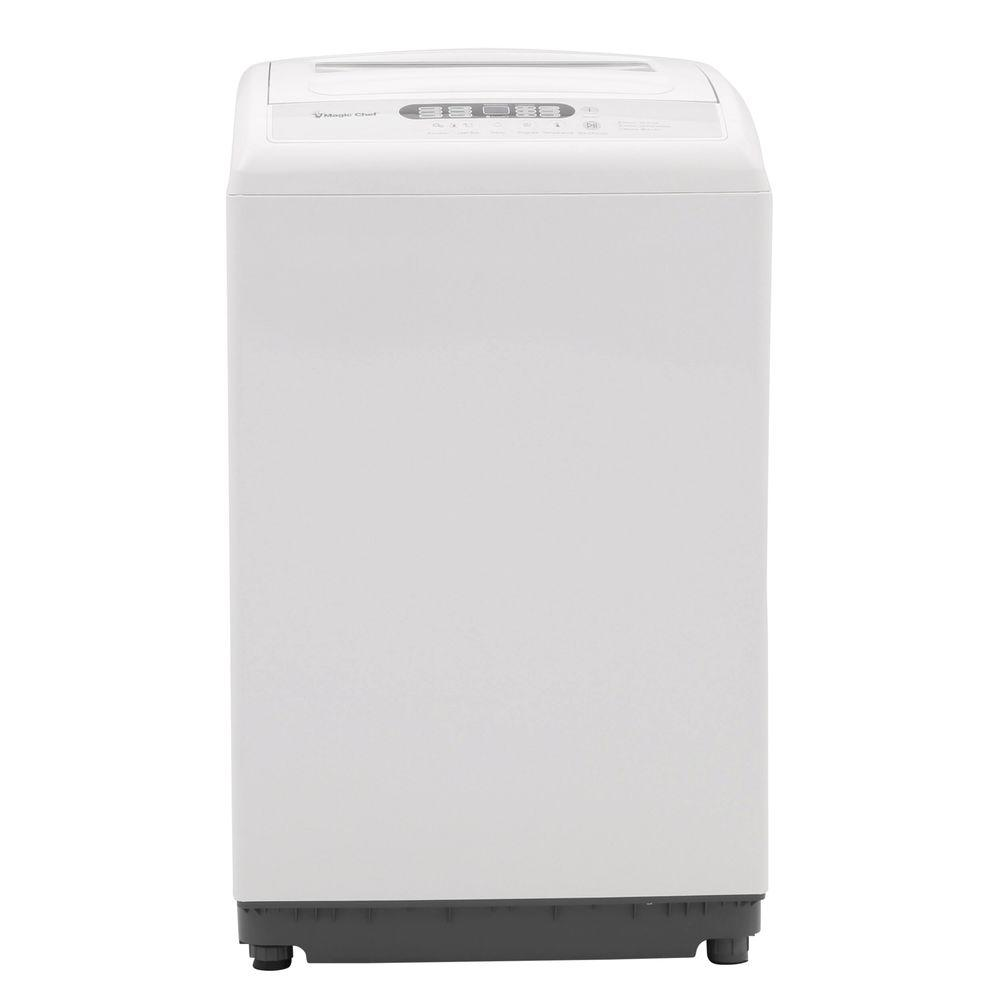 Magic Chef Compact 2.1 cu. ft. Top Load Washer in White with Stainless Steel Tub
