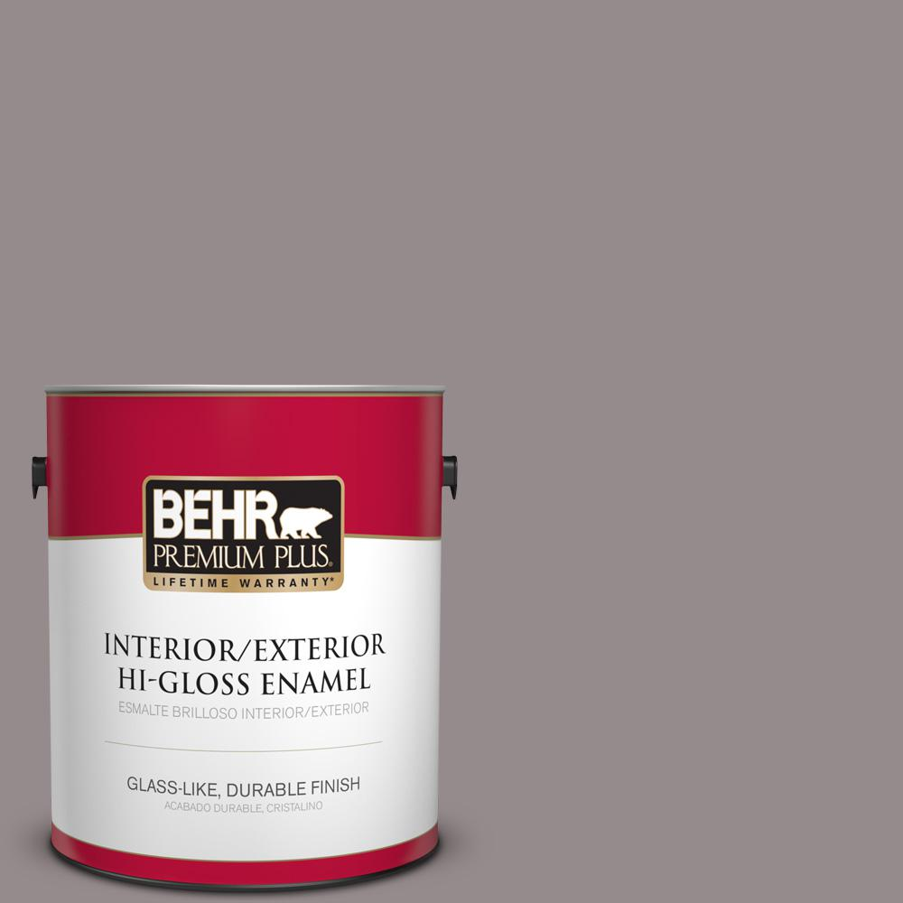 1 gal. #T18-03 Graylac Hi-Gloss Enamel Interior/Exterior Paint