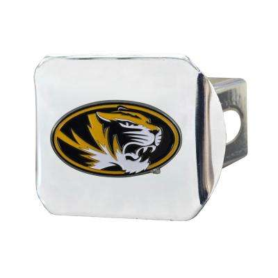 NCAA University of Missouri Color Emblem on Chrome Hitch Cover
