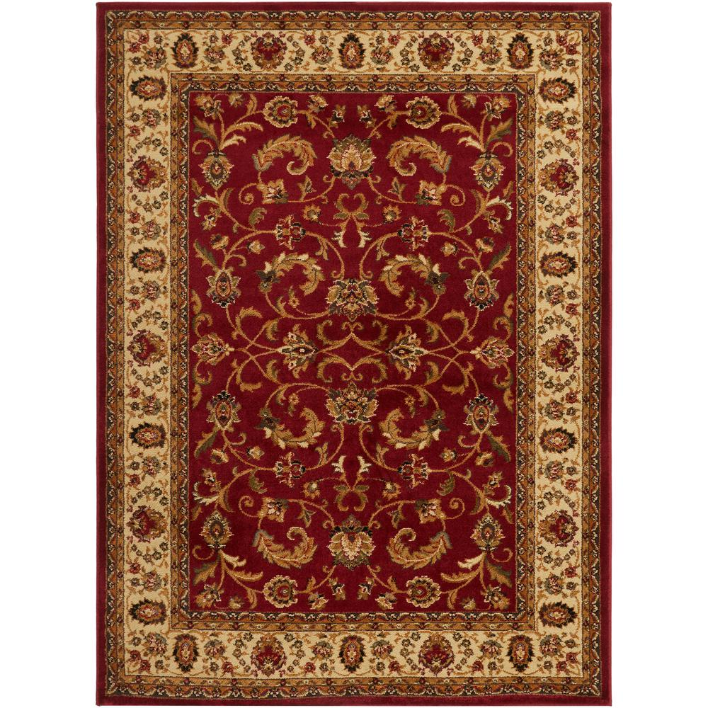 Home Dynamix Royalty Red/Ivory 4 Ft. X 5 Ft. Indoor Area