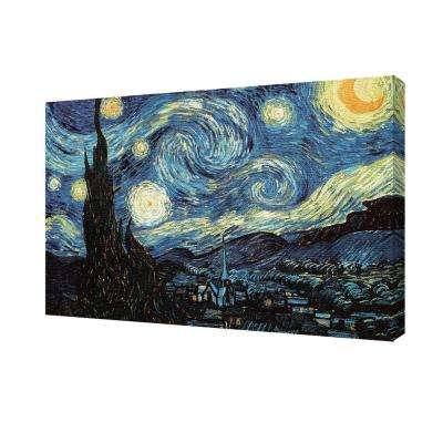 "24 in. x 36 in. ""Van Gogh - Starry Night"" Printed Canvas Wall Art"