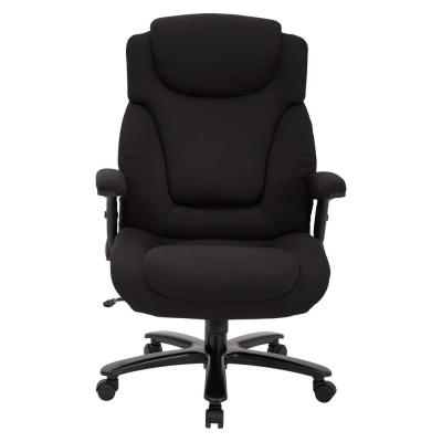 Big and Tall Black Fabric Chair