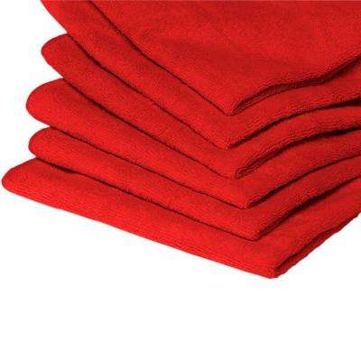 10 Microfiber Towels Red