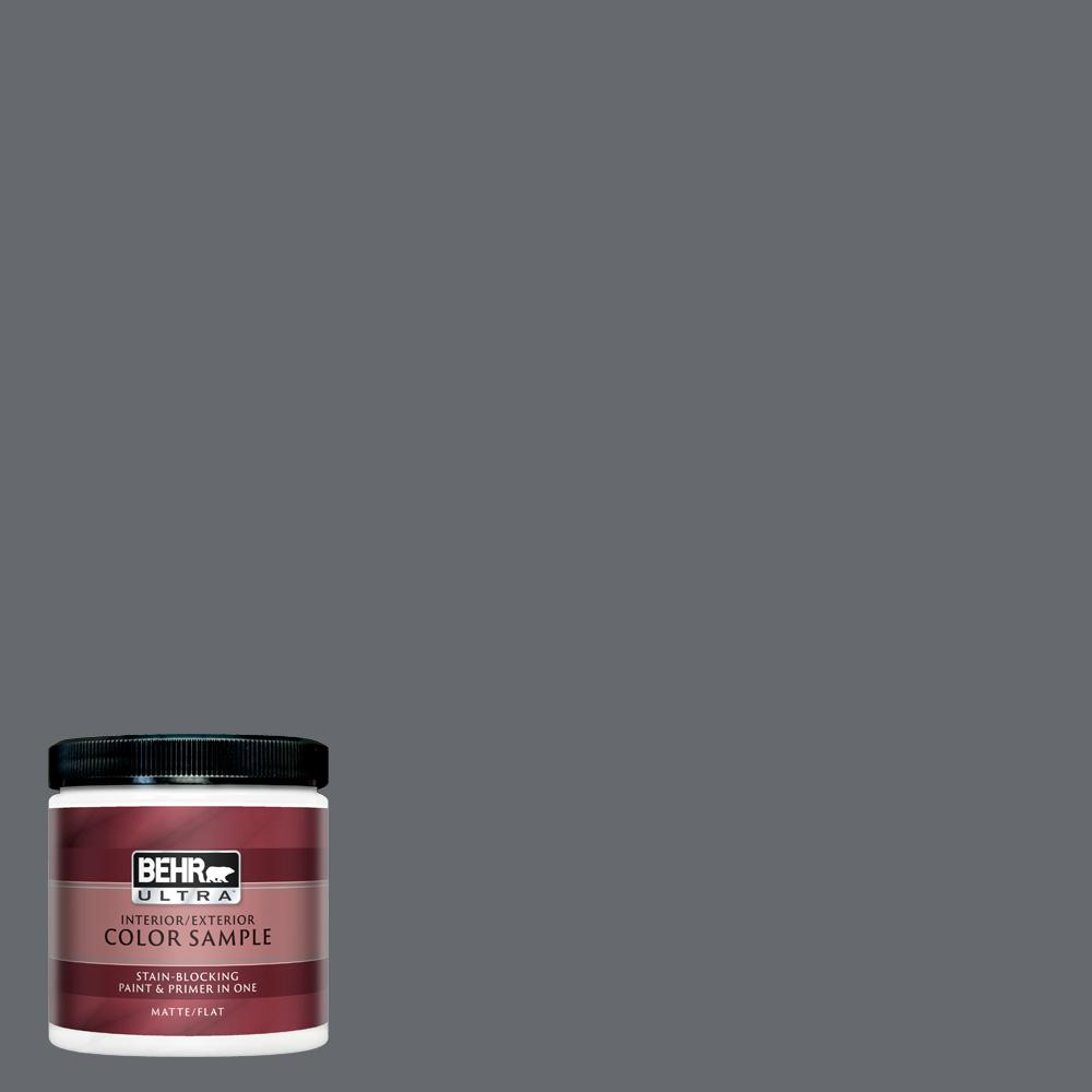 BEHR ULTRA 8 oz  Home Decorators Collection #HDC-CL-04G Liberty Bell Gray  Matte Interior/Exterior Paint & Primer Sample