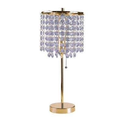 Deco Glam 20.25 in. Gold Table Lamp