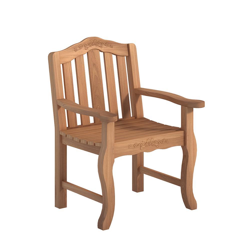 Armchair Natural Teak Outdoor Dining Chair