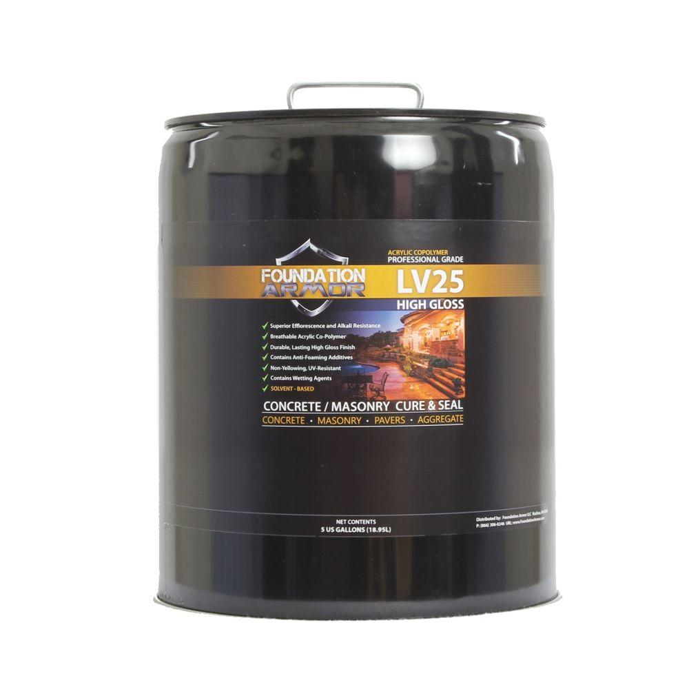 Foundation Armor Ultra Low VOC 5 gal. Clear High Gloss Acrylic Co-Polymer Sealer and Curing Compound