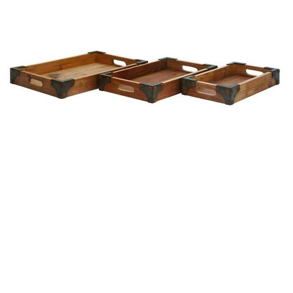 Home Decorators Collection Assorted Size Distressed Wood Tray (Set of 3)