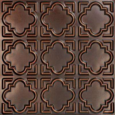 Casablanca 2 ft. x 2 ft. PVC Glue-up Ceiling Panel in Antique Copper (100 sq. ft. / case)